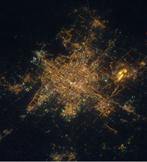 Beijing at night from space