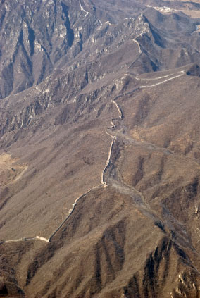 great wall of china aerial pic