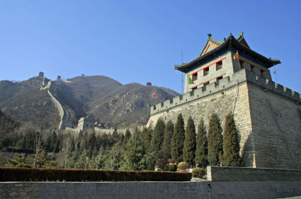 great wall of china badling region