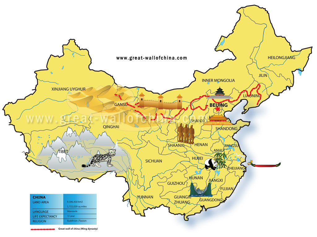 Map Of China For Kids With Provinces