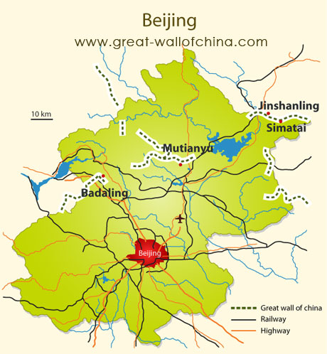 Where Is The Great Wall Of China Located Map Of The Great wall of