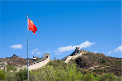 great wall of china chinese flag