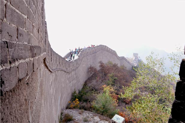 sideview great wall of china badaling
