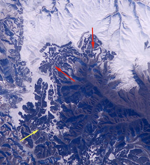 the great wall of china from space