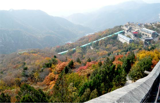 train ride badaling great wall